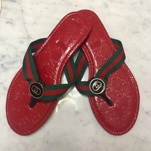 EUC Gucci Flip Flops